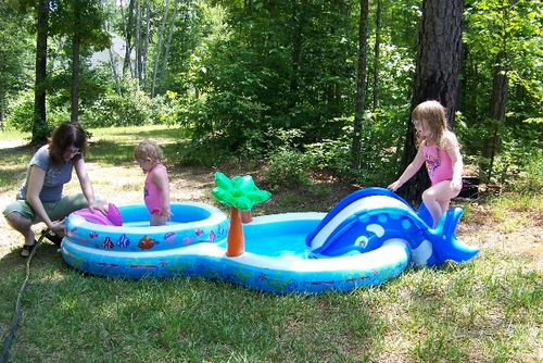 Maddie and Lily's New Pool 018
