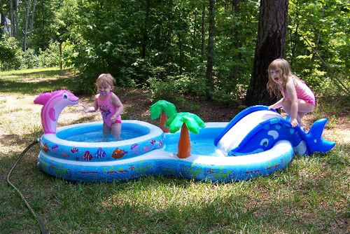 Maddie and Lily's New Pool 026