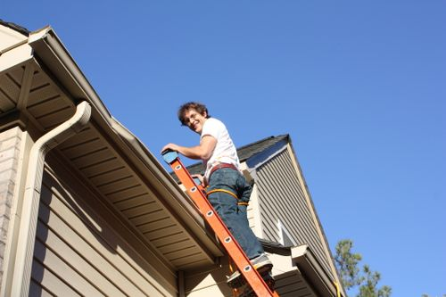 Robert on the roof 012
