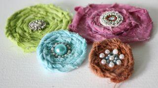 Fabric flowers pics-1