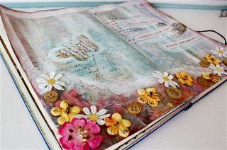 Art journaling in pink-1
