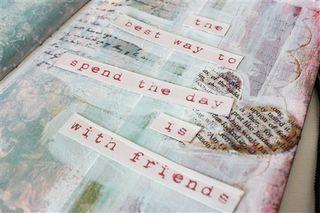 Art journaling in pink-1-3