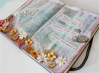 Art journaling in pink-1-2