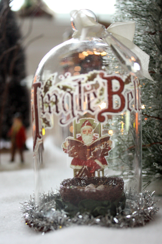 Week of Christmas Ornaments: Day 2 Glass Dome with Rub-ons